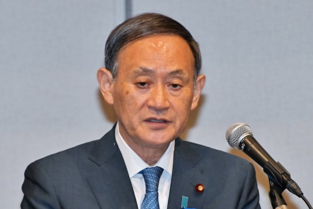 Japan's Chief Cabinet Secretary Yoshihide Suga expressed support for the policies of former Prime Minister Shinzo Abe, who recently resigned, citing health issues. File Photo by Keizo Mori/UPI