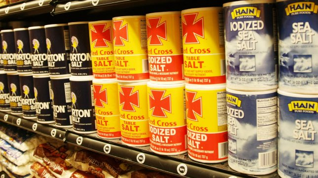 Salt is seen on display at the Westside Market in New York on January 11, 2010. UPI/Monika Graff