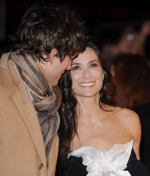 American actor Ashton Kutcher and actress Demi Mooore attend the premiere of Valentine's Day at Odeon, Leicester Square in London on February 11, 2010. UPI/Rune Hellestad