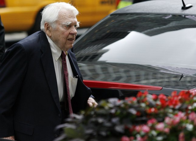 Andy Rooney, shown at the funeral of CBS newsman Walter Cronkite July 23, 2009, in New York City. (UPI Photo/John Angelillo) .