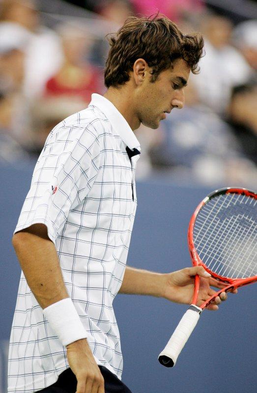 Marin Cilic playing Juan Martin Del Potro at the U.S. Open Tennis Championship in New York on Sept. 10, 2009. Del Potro won 4-6, 6-3, 6-2,6-1. UPI /Monika Graff
