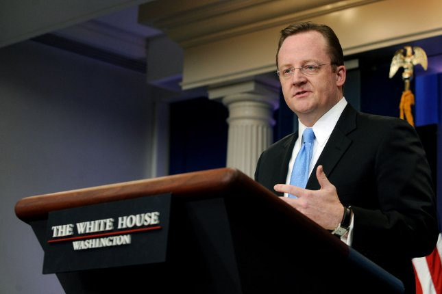 Former White House Press Secretary Robert Gibbs speaks during a daily press briefing in the Brady Press Briefing Room of the White House in Washington on Jan. 28, 2011. Gibbs accepted a position as head of communications for McDonald's, the company announced Tuesday. File photo by Roger L. Wollenberg/UPI