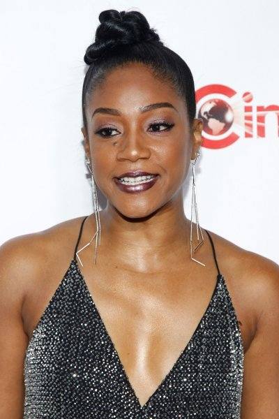 Tiffany Haddish discussed Sanaa Lathan after claiming an actress bit Beyoncé in the face at a party in December. File Photo by James Atoa/UPI