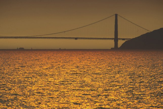 A view of the Golden Gate Bridge is pictured from Berkeley, Calif., where a small earthquake was recorded Tuesday along one of the most dangerous fault zones in the United States. File Photo by Terry Schmitt/UPI