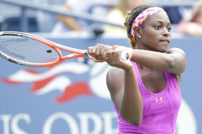 Sloane Stephens, shown at the 2013 U.S. Open, was among first-round winners Sunday at the Tory Pan Pacific Open in Tokyo. UPI/John Angelillo