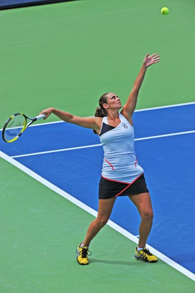 Roberta Vinci, shown in a 2011 tournament, had a three-set victory Monday that gave Italy a series win over two-time defending champion Czech Republic in the Fed Cup semifinals. UPI /Christine Chew
