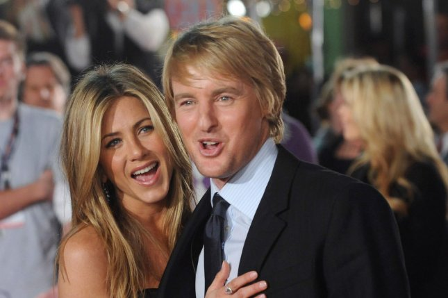 Jennifer Aniston and Owen Wilson appear pictured at the Marley & Me premiere on December 11, 2008. Photo by Jim Ruymen/UPI