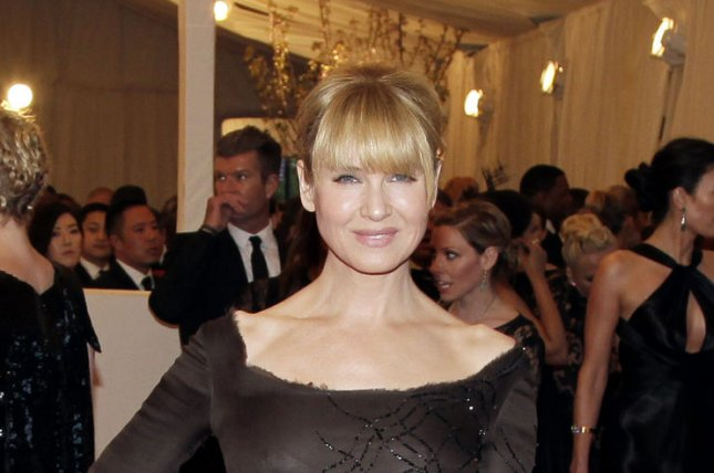 Renee Zellweger at the Costume Institute Benefit at the Metropolitan Museum of Art on May 6, 2013. The actress discussed 'Bridget Jones's Baby' in a recent interview. File Photo by John Angelillo/UPI