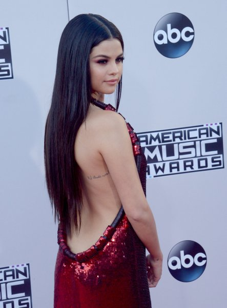 Selena Gomez arrives for the 43rd annual American Music Awards held at Microsoft Theater in Los Angeles on Nov. 22. Photo by Jim Ruymen/UPI