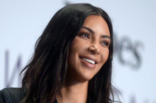 Kim Kardashian attends the Forbes Women's Summit on Tuesday. The reality star will launch a makeup line, KKW Beauty, on June 21. Photo by Dennis Van Tine/UPI