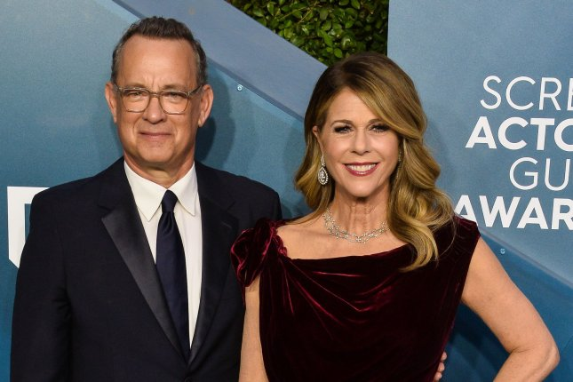 Tom Hanks and Rita Wilson are back home in the United States after being treated for the coronavirus in Australia. File Photo by Jim Ruymen/UPI