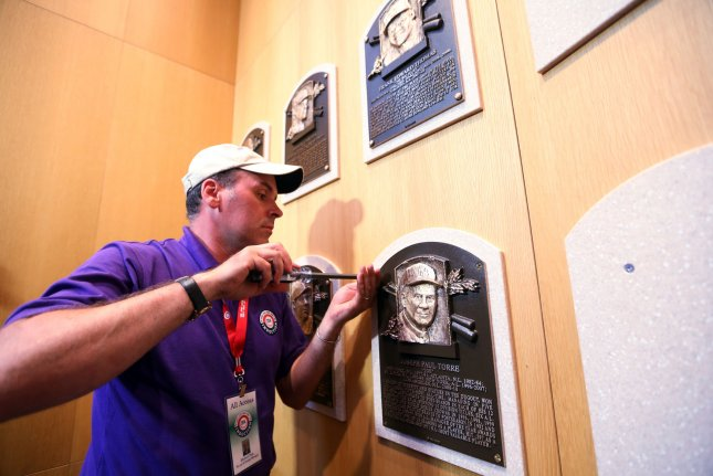 The Baseball Hall of Fame, which closed on March 15 due to the coronavirus, welcomed visitors back Friday. As part of its reopening, staff and guests were required to wear face masks. File Photo by Bill Greenblatt/UPI