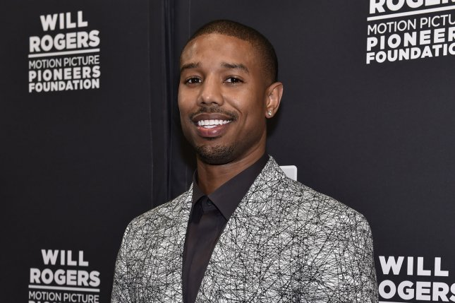 Actor Michael B. Jordan attends the Pioneer of the Year dinner at Caesars Palace during CinemaCon, the official convention of the National Association of Theatre Owners, in Las Vegas, Nevada on April 22. Michael B. Jordan cast as Adonis Creed in upcoming Rocky Spin-off 'Creed.' File Photo by David Becker/UPI