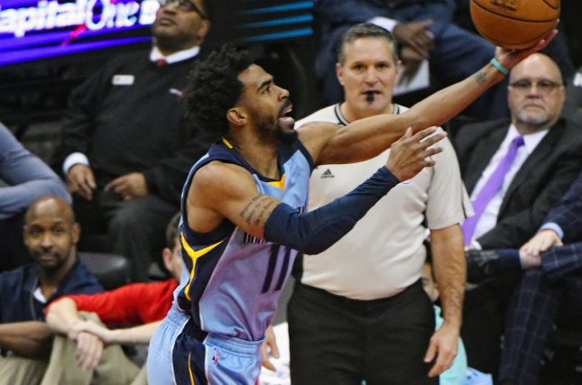 Memphis Grizzlies guard Mike Conley (11). Photo by Mark Goldman/UPI