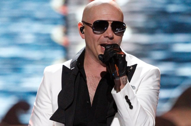 Singer Pitbull performs on stage during the 2017 Miss USA Competition on May 14 at Mandalay Bay Resort and Casino. File photo by James Atoa/UPI