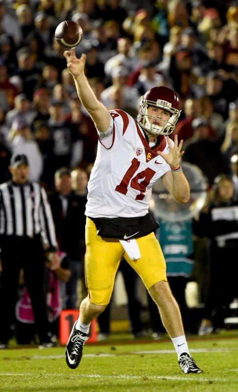 Sam Darnold and USC walloped Oregon on Saturday. Photo by Juan Ocampo/UPI