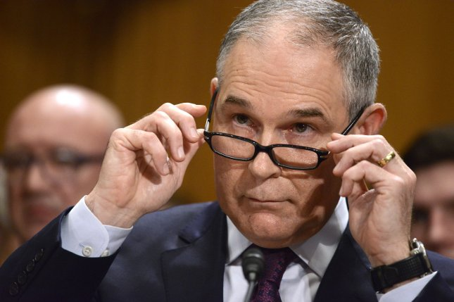 EPA Administrator Scott Pruitt is being scrutinized for the amount of money it took to send him to Italy last year. Documents show the costs amount to $120,000. File Photo by Mike Theiler/UPI
