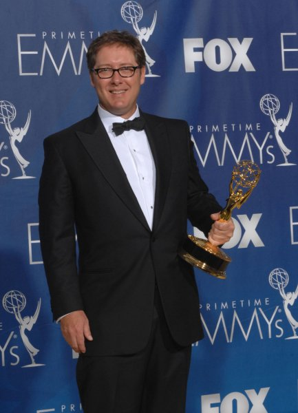 James Spader appears backstage with the Emmy he won for work on 'Boston Legal' at the 59th Primetime Emmy Awards at the Shrine Auditorium in Los Angeles on September 16, 2007. (UPI Photo/Scott Harms)