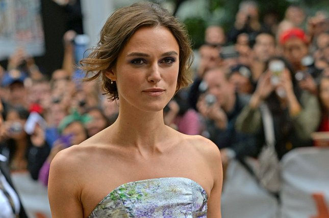 Keira Knightley arrives for the premiere of 'Can A Song Save Your Life' at the Princess of Wales Theatre during the Toronto International Film Festival in Toronto, Canada on September 7, 2013. UPI/Christine Chew