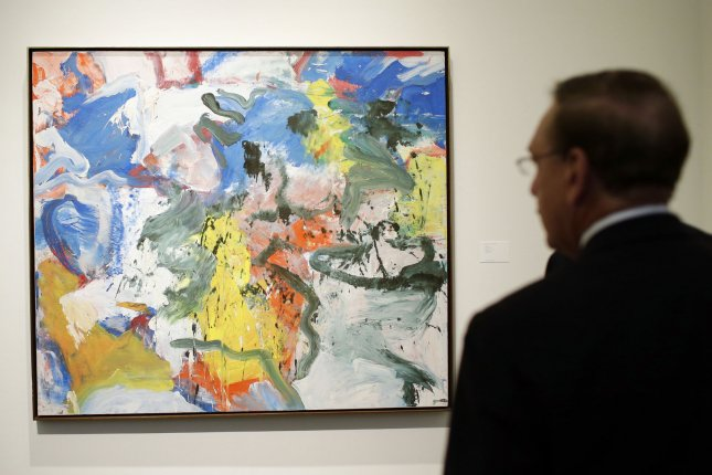 A businessman indicted in connection with a fake art ring that raked in $33 million for bogus pieces imitating famous artists like Willem de Kooning -- who painted this 1975 work featured in a Sotheby's auction in 2013 -- faces extradition to the U.S. from Spain. File Photo by John Angelillo/UPI