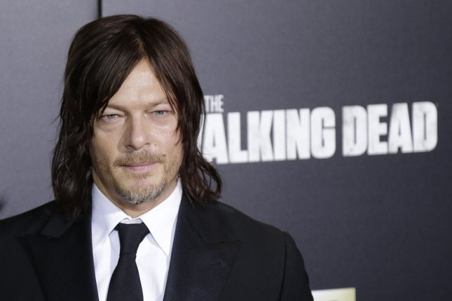 Norman Reedus arrives on the red carpet at AMC's The Walking Dead Season 6 fan premiere event at Madison Square Garden on October 9, 2015. File Photo by John Angelillo/UPI