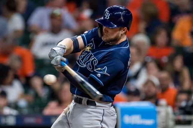 Tampa Bay Rays outfielder Austin Meadows smashed a game-winning, solo home run in the eighth inning of a victory over the Miami Marlins on Thursday in Miami. File Photo by Trask Smith/UPI