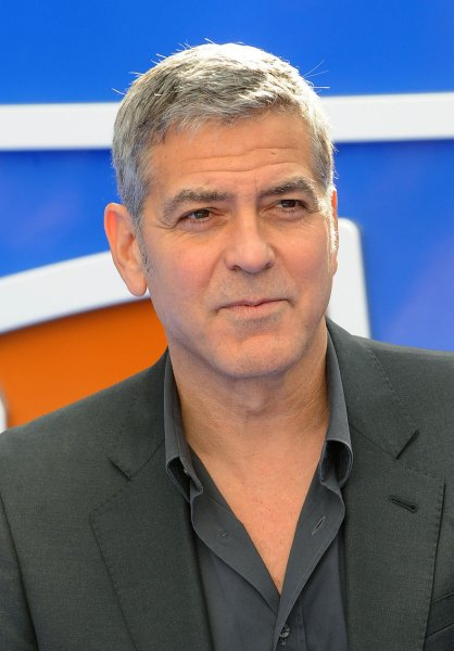 George Clooney attends the European Premiere of Tomorrowland: A World Beyond at Odeon Leicester Square in London on May 17, 2015. Photo by Paul Treadway/UPI