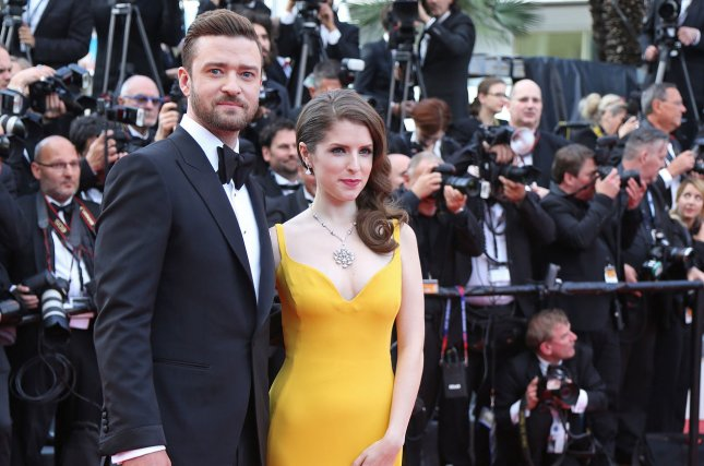 Justin Timberlake and Anna Kendrick arrive on the red carpet before the screening of the film Cafe Society at the opening of the 69th annual Cannes International Film Festival in Cannes, France on May 11, 2016. The pair star in the first trailer for Dreamworks Animations upcoming animated comedy, Trolls. File Photo by David Silpa/UPI