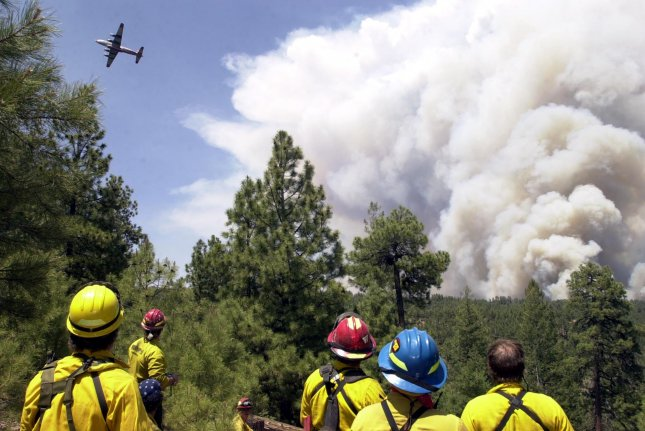 New research suggests EPA measurements underestimate the pollution emitted by wildfire plumes. Photo by jaf/ps/Pat Shannahan/UPI