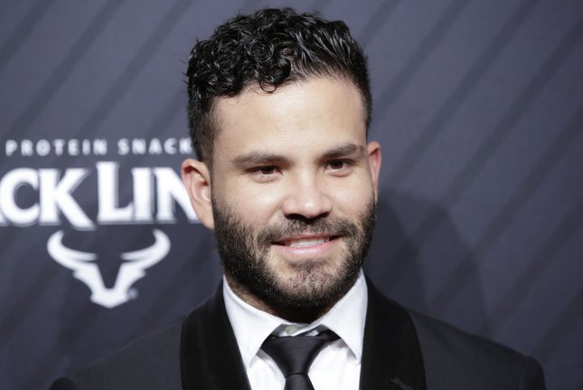Jose Altuve was the leading vote-getter for the 2018 American League All-Star team. File photo by John Angelillo/UPI