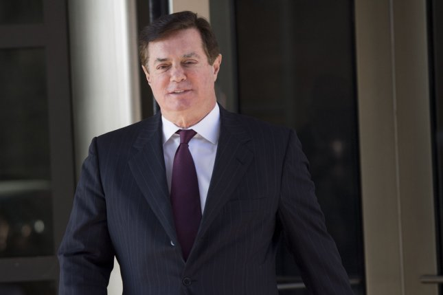 Former Trump campaign manager Paul Manafort was sentenced to a total of 7.5 years in prison in two different cases. Photo by Kevin Dietsch/UPI