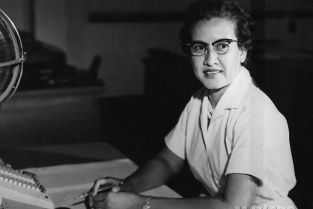 NASA research mathematician Katherine Johnson is seen at her desk at the Langley Research Center. Born on August 26, 1918, in White Sulphur Springs, W.Va., she worked at Langley from 1953 until her retirement in 1986, making critical technical contributions which included calculating the trajectory of Alan Shepard's historic 1961 flight. File Photo courtesy NASA/UPI