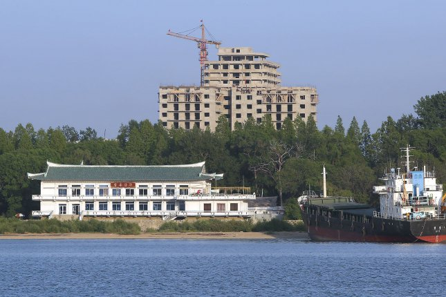 North Korea's city of Sinuiju is the site of the Sinuiju Textile Mill, where new air-jet looms have been installed, state media said Monday. North Korea textile exports are under international sanctions and have been banned since 2017. File Photo by Stephen Shaver/UPI
