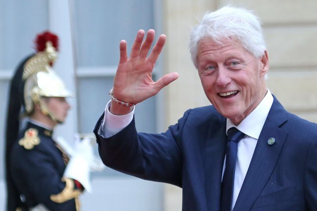 President Bill Clinton and author James Patterson discussed working on the new mystery-thriller novel The President's Daughter on Jimmy Kimmel Live! File Photo by David Silpa/UPI