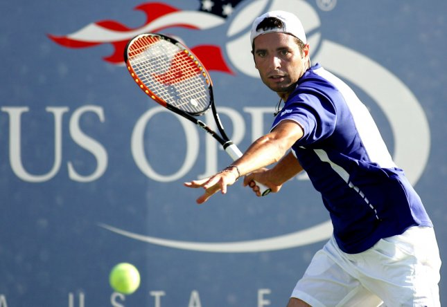 Albert Montanes, shown at a match in this year's U.S. Open, was among the first -round winners Monday at the ATP tournament in Montpelier, France. UPI /Monika Graff