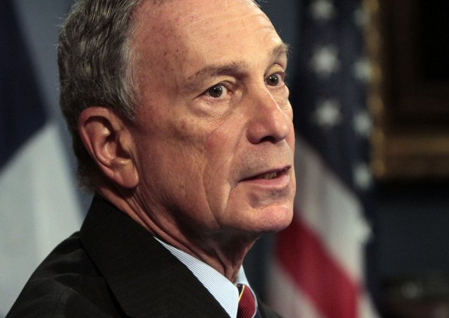 New York City Mayor Michael Bloomberg says work on the National September 11 Memorial Museum is at a standstill because of a budget dispute. UPI/Richard Drew/POOL