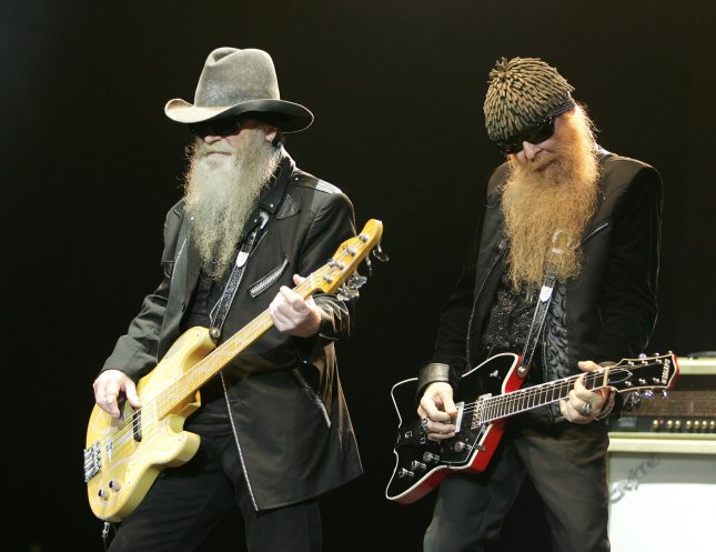 Billy Gibbons (R) and Dusty Hill with ZZ Top perform in concert at the Seminole Hard Rock Hotel and Casino in Hollywood, Florida on December 28, 2007. (UPI Photo/Michael Bush)