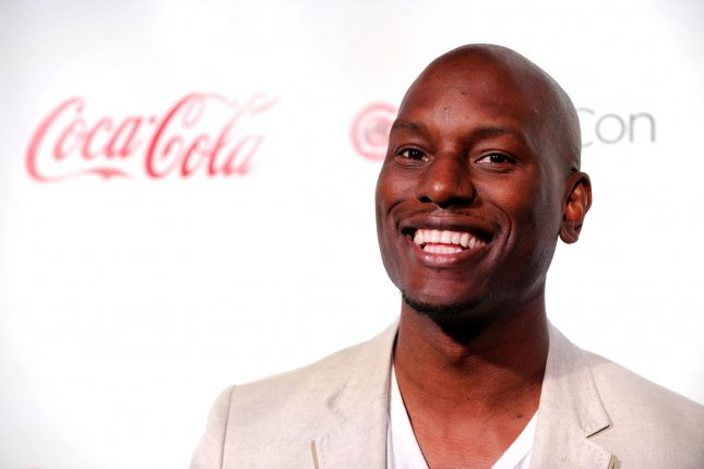 Singer/actor Tyrese Gibson arrives at the CinemaCon Big Screen Achievement Awards ceremony at Caesars Palace during CinemaCon, the official convention of the National Association of Theatre Owners, in Las Vegas, Nevada on April 26, 2012. UPI/David Becker