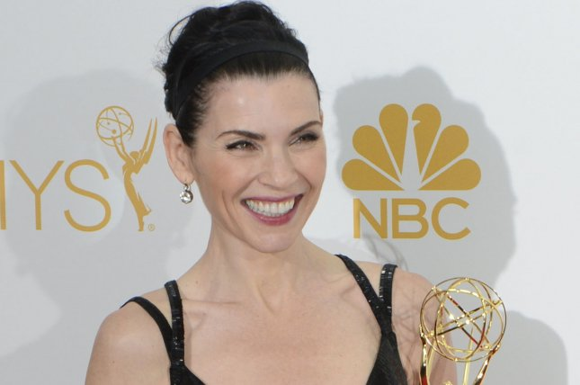 Julianna Margulies, winner of Outstanding Lead Actress In A Drama Series for 'The Good Wife,' at the Primetime Emmy Awards in Los Angeles on August 25, 2014. Photo by Phil McCarten/UPI