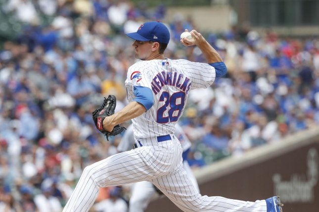 The Cubs have locked up starting pitcher Kyle Hendricks with a new deal, this coming off a season in which he won 14 games for Chicago. File Photo by Kamil Krzaczynski/UPI