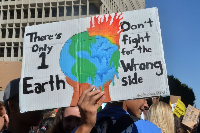 Authors of a new paper declaring a climate emergency said they're encouraged by the increase in public demands for climate change mitigation, especially by youth activists. File Photo by Jim Ruymen/UPI