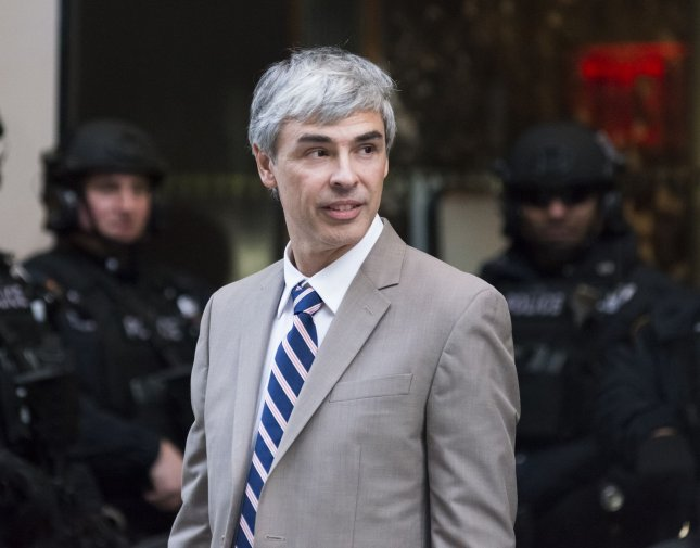 Alphabet CEO Larry Page, pictured here, and President Sergey Brin announced Tuesday they will step down from their executive positions at Google's parent company. File Photo by Albin Lohr-Jones/Pool