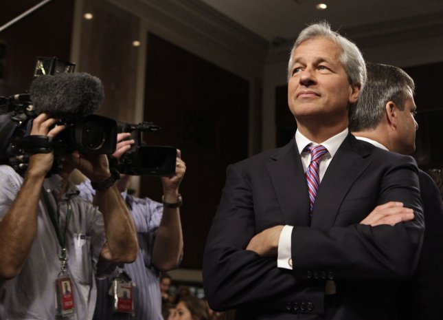 JPMorgan Chase and Company CEO Jamie Dimon arrives to testify before a Senate Banking, Housing and Urban Affairs Committee hearing on Capitol Hill in Washington on June 13, 2012. UPI/Yuri Gripas.