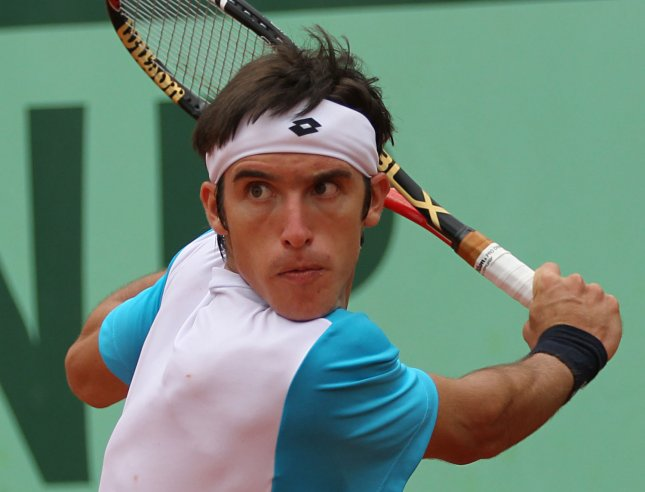 Leonardo Mayer, shown in a 2011 file photo, posted a win Tuesday over top-seeded Philipp Kohlschreiber at the ATP's tournament in Austria. UPI/David Silpa
