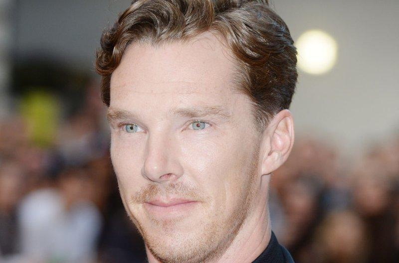 Benedict Cumberbatch recreated Colin Firth's iconic lake scene as Mr. Darcy in 'Pride in Prejudice' for charity. (UPI/ Rune Hellestad)