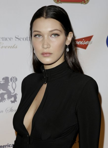 Bella Hadid arrives on the red carpet at the Global Lyme Alliance Inaugural Gala at Cipriani 42nd Street on Oct. 8 in New York City. The model made her Chanel runway debut this week in Rome. File Photo by John Angelillo/UPI