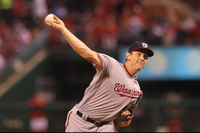 Washington Nationals pitcher Stephen Strasburg. Photo by Bill Greenblatt/UPI