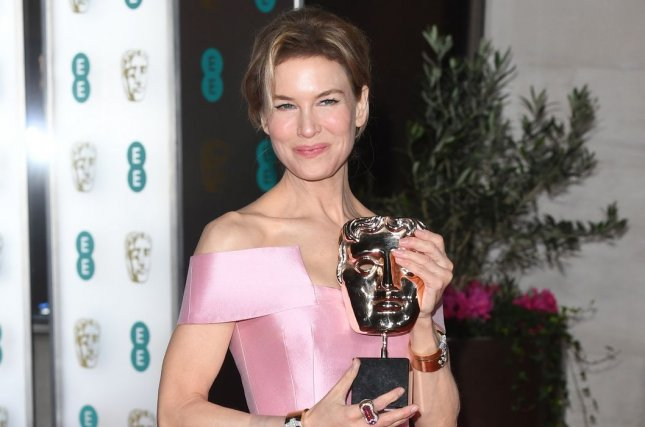 Renee Zellweger attends the official British Academy Film Awards Party on February 2020. BAFTA has extended his awards eligibility period for the 2021 Film Awards. File Photo by Rune Hellestad/UPI