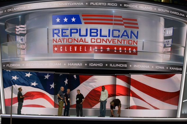 The Republican National Committee, which plans the party's convention, reported that it raised more than $132 million last year ahead of a filing deadline. File Photo by Pat Benic/UPI