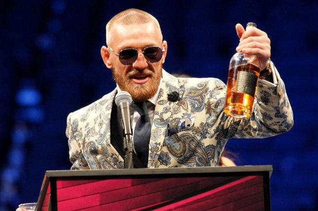 Conor McGregor will receive a portion of the $600 million purchase price from the majority stake sale of Proper No. Twelve Irish whiskey. File Photo by James Atoa/UPI